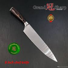 best brand kitchen knives grandsharp 8 inch super quality chef knife aus 8 stainless steel