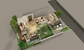 3d ground floor plan luxury villas in kokapet hyderabad eden garden