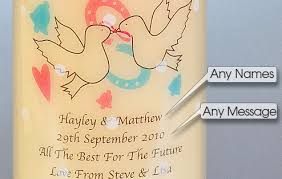 wedding day messages wedding day dove knot candle i just it