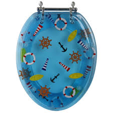 themed toilet seats decorative toilet seat nautical design elongated baby n toddler