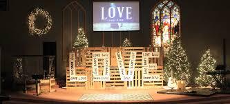 Church Stage Christmas Decorations Pallet Testimonies Church Stage Design Ideas