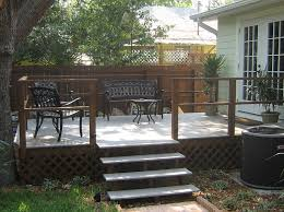 contemporary deck stair handrail simple designs deck stair