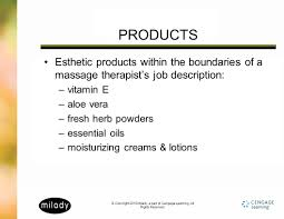 Massage Therapist Job Duties Copyright 2010 Milady A Part Of Cengage Learning All Rights