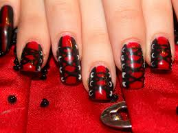 nail art designs 36 red black and white red and black nail