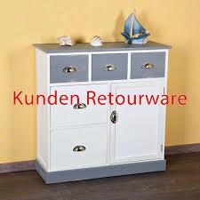 Schlafzimmer Kommode Dunkelbraun B Ware Sideboard Kommode Schubladenschrank Regal Holz Braun Weiß