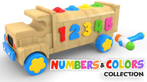 wooden truck toy learn colors and numbers with wooden truck toy colours and