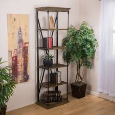christopher knight home appleton five shelf industrial bookcase