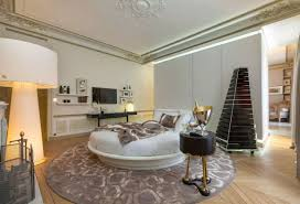 Unique Round Rugs Circle Bed In Unique Bedroom Interior Design Small Design Ideas