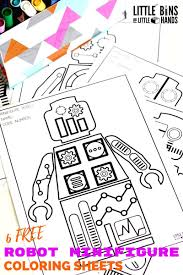 minifigure robot coloring pages free printable coloring sheets