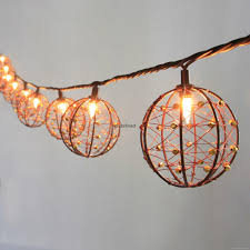 Copper String Lights party string lights decorative beaded copper wire ball string