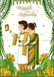 invitation card cartoon design quirky creative indian wedding invitations maharashtrian wedding