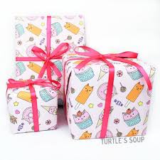gift wrap cart dessert cats gift wrap rolls single sheet or set of 3 turtle s