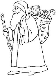 santa claus coloring book twelve christmas