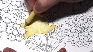 yellow background tutorial johanna basford magical jungle youtube
