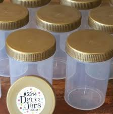 10 plastic jar bottle gold cap top 3 oz herbs poly 5314