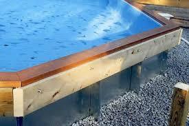 framing a deck around a pool diy deck plans