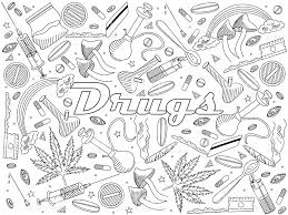 drugs coloring book vector illustration stock vector art 545277448