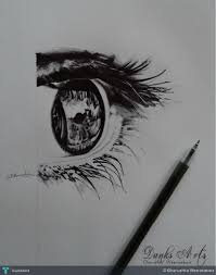 eye ball point pen drawing touchtalent for everything creative