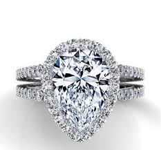 pear shaped ring 1 00 carat pear shape diamond halo engagement ring diamond