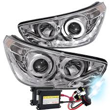 led halo headlight accent lights hid xenon 12 13 hyundai accent angel eye halo led projector