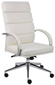 modern leather desk chair amazon com boss b9401 wt caressoftplus executive series chair