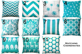 bedroom wonderful variant of turquoise pillows with winsome