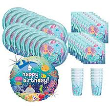 mermaid party supplies mermaid birthday party supplies bundle pack for 16