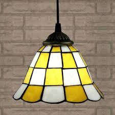 Yellow Pendant Light White Finished Yellow Pattern 24 Inch Kitchen Pendant Lighting In