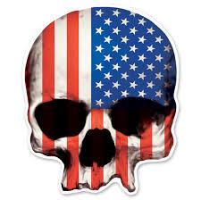 American Flag Skull Lethal Threat Rude U0026 Crude Usa Skull Mini Decal 161 542 J U0026p Cycles