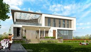 3d club house exterior elevation design day rendering by hs we