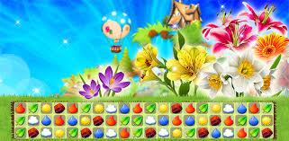 flower garden match3 game tellurion mobile