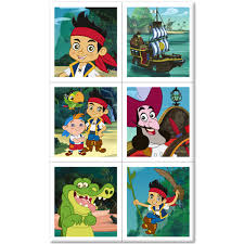 jake land pirates stickers 4 sheets
