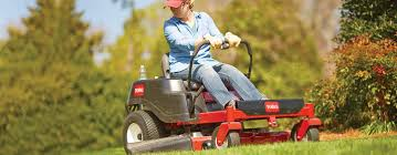 using riding mowers and lawn tractors for a perfect lawn at the