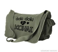Meme Bag - doki doki for kohai anime messenger bag anime meme bag