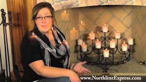decorating awesome fireplace candelabra with black frame for