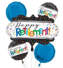 retirement balloon bouquet happy retirement celebration balloon bouquet 5pc party city