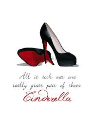 wedding shoes quotes christian louboutin black shoes print cinderella by subjectart