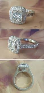 2 carat cushion cut engagement ring platinum 2 carat vs2 cushion cut halo engagement ring