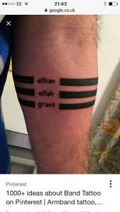 gentleman with black band roman numerals forearm tattoo tatoos
