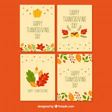 beautiful thanksgiving cards vector free