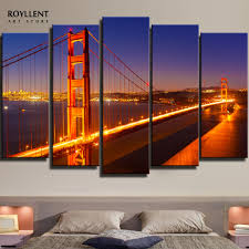 aliexpress com buy modern panels new york cityscape golden gate