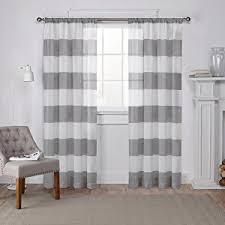 amazon com exclusive home curtains chateau striped faux silk