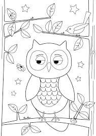 simple owl drawing kids download u0026 print coloring