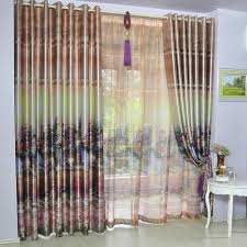 Eyelet Curtains Polyester Sanding U0026print Curtain Gauze Curtain Customized Curtains