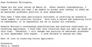 Rejection Letter Recruitment Agency best responses to a rejection