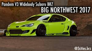 subaru green 2017 insane wide body subaru brz big northwest 2017 youtube