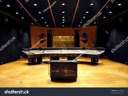 interior recording studio control desk stock photo 48678481