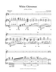 download white christmas for voice u0026 piano sheet music by irving