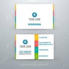 modern simple business card template u2014 stock vector antartstock