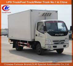 foton refrigerated van truck with thermo king carrier refrigerator